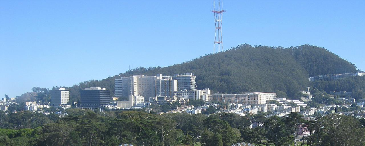 'UCSF Medical Center and Sutro Tower in 2008' by Hourann Bosci from Perth, Australia - The unfinished Cal Academy of Sciences. Licensed under CC BY-SA 2.0 via Commons - https://commons.wikimedia.org/wiki/File:UCSF_Medical_Center_and_Sutro_Tower_in_2008.jp