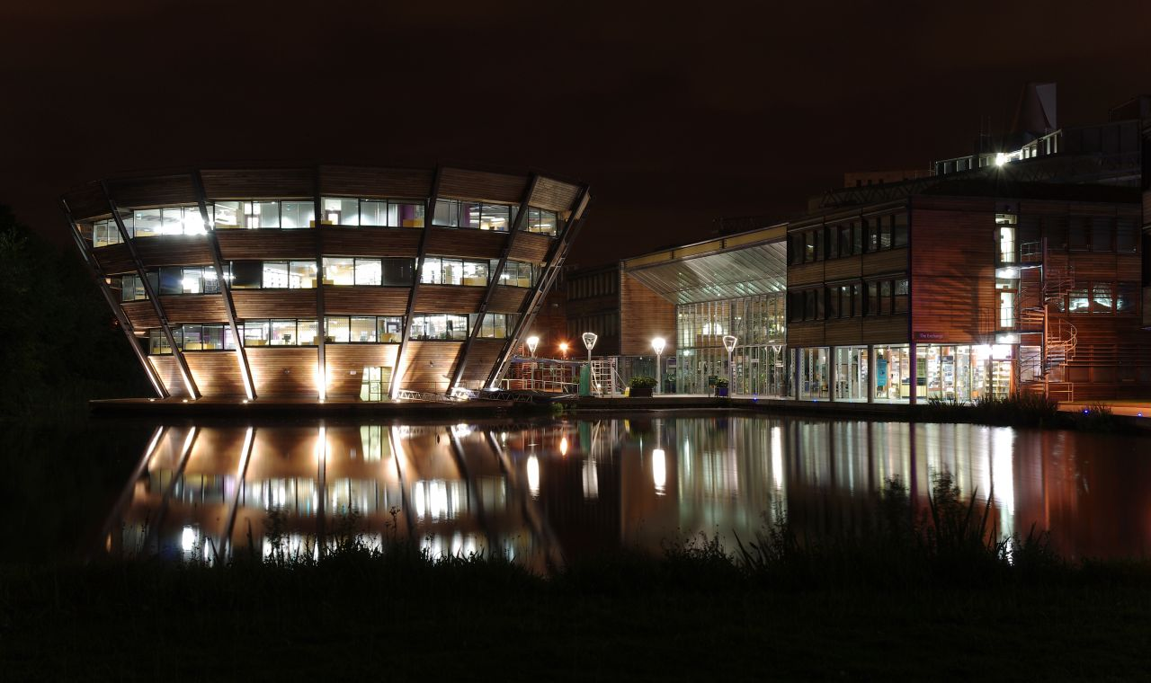 'Jubilee Campus MMB Z7 Djanogly LRC and The Exchange' by mattbuck (category) - Own work by mattbuck.. Licensed under CC BY-SA 3.0 via Commons - https://commons.wikimedia.org/wiki/File:Jubilee_Campus_MMB_Z7_Djanogly_LRC_and_The_Exchange.jpg#/media/File:Jub