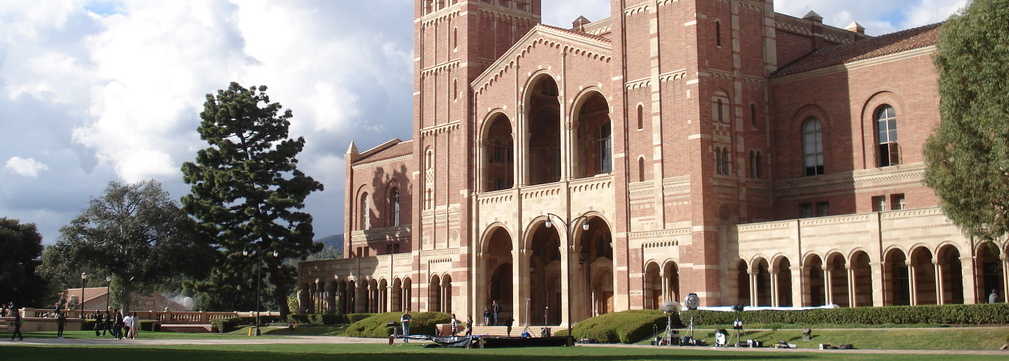 'Royce Hall post rain' by Alton - Own work. Licensed under CC BY-SA 3.0 via Commons - https://commons.wikimedia.org/wiki/File:Royce_Hall_post_rain.jpg#/media/File:Royce_Hall_post_rain.jpg