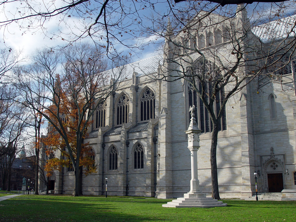 "'Princeton University Chapel 2003' by Cocoloco at en.wikipedia - Own work (Original caption: ""self-made"")Transferred from en.wikipedia to Commons by User:Elekhh using CommonsHelper.. Licensed under CC BY-SA 3.0 via Commons - https://commons.wikimedia.org/"