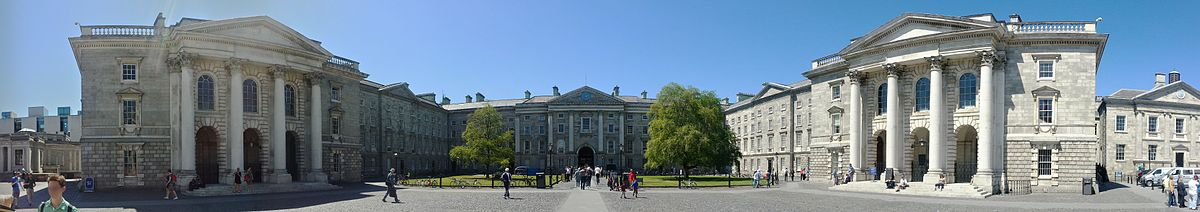 'Trinity College Dublin, Parliament Square' by Mindriot - Own work. Licensed under CC BY-SA 3.0 via Commons - https://commons.wikimedia.org/wiki/File:Trinity_College_Dublin,_Parliament_Square.jpg#/media/File:Trinity_College_Dublin,_Parliament_Square.jpg